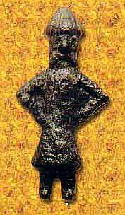 Svantovit metal icon from Świecia n. Odrą (Schwedt)