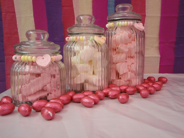 Having a range of lollies suitable for under 3's...might pay to have lids so the kiddies can't go in and empty the whole lot before the end of the day.  These were just cheap 1,2 and 3dollar jars from the shop