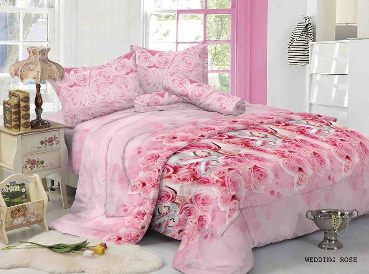 """WEDDING ROSE - """"Sesuai dengan namanya Motif Wedding Rose memberikan romantisme di kamar tidur serta cocok bagi anda pasangan yang baru saja menikah"""""""