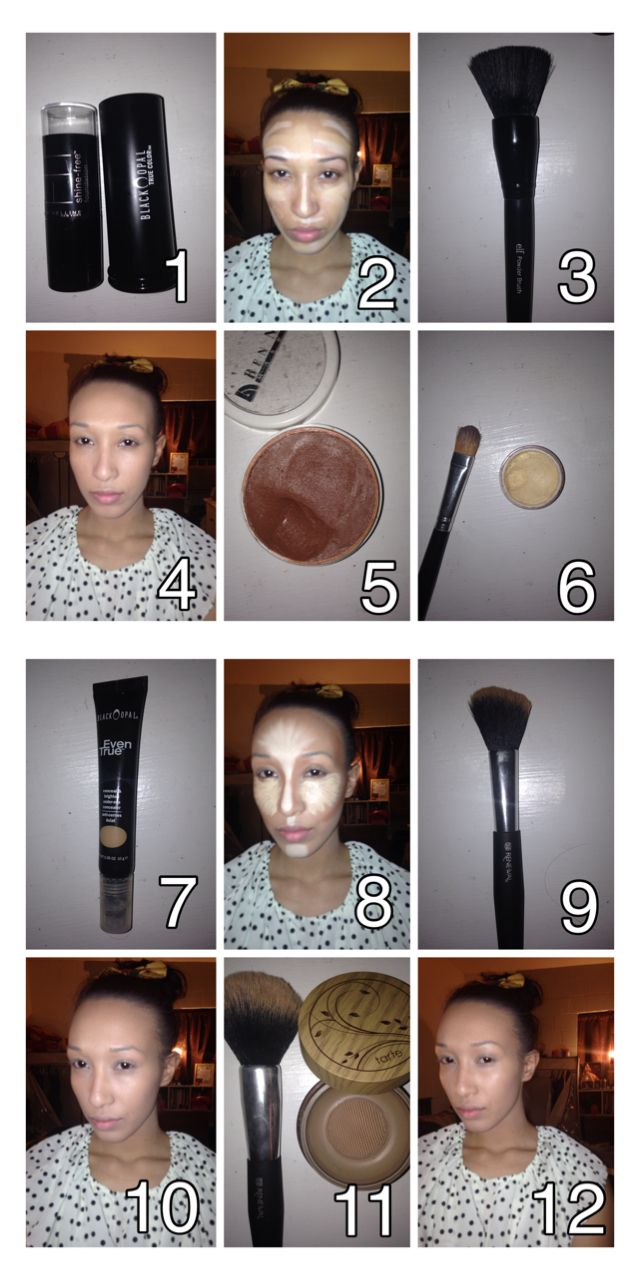 How To Foundation And Contour Using Drugstore Brands! Maybelline Shine Free  Stick Foundation, Black