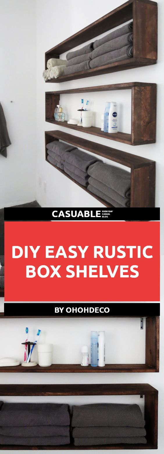 20 Super Easy Rustic DIY Shelves To Add Storage Space – Tutorials