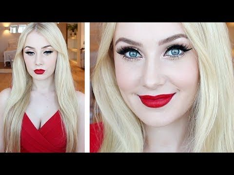 Makeup Tutorial for Fair Skin: Glamorous Pin-Up Look + Hair Tutorial