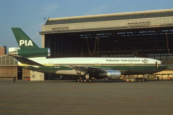 PIA - Pakistan International Airlines DC-10-30; AP-AXC, October 1977/BGC