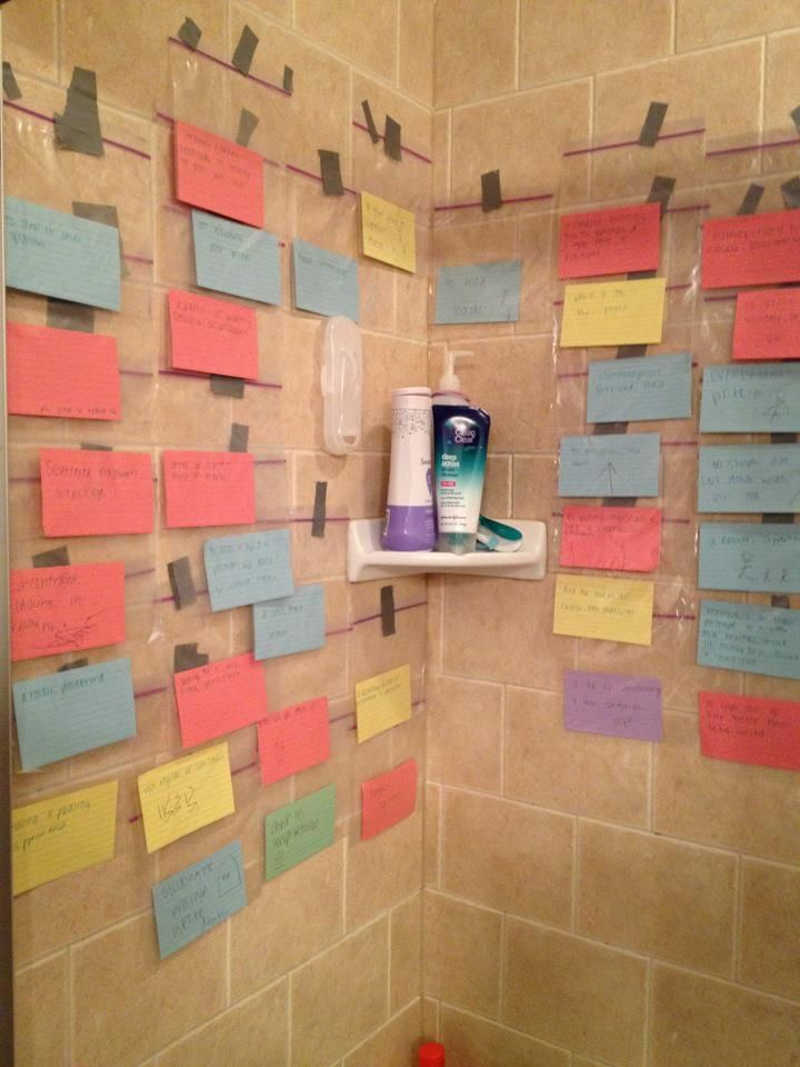 Hardcore studying! #nursing #students...I would totally do this if i could take longer than a 5 minute shower!