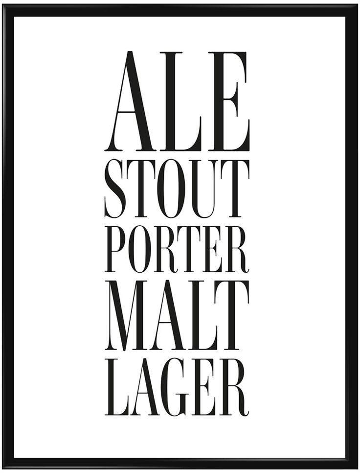 Denna poster borde finnas på väggen i varje öl-älskares hus. Subtil tavla med…