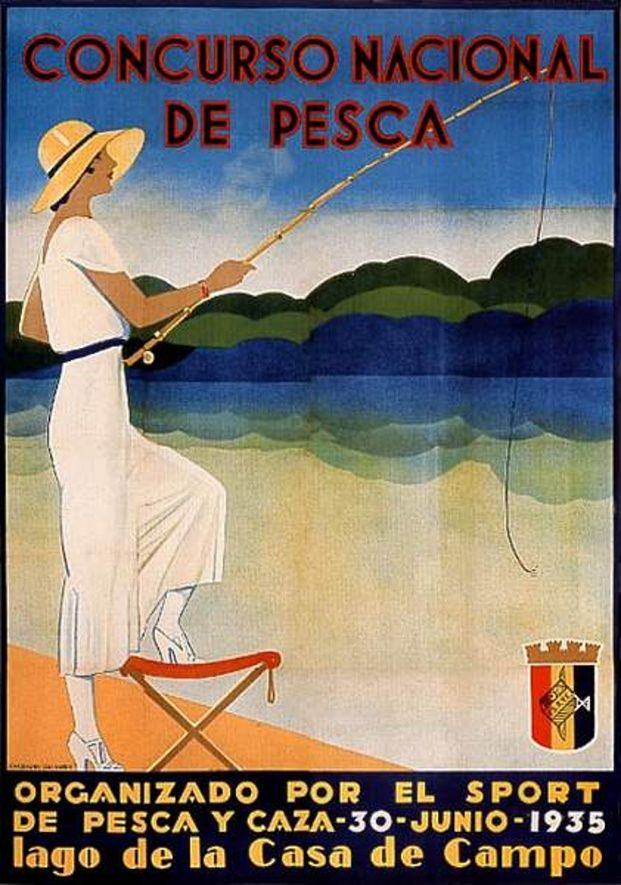 National Fishing Contest, 1935.: Posters Art Lov, National Fish, Deco Posters, Posters Design, Fish Contest, Film Posters, Fish Posters, Travel Posters, Posters Artlov