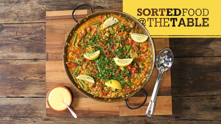 In this episode of Sorted Food @ The Table, Ben and Jamie make a Sorted twist on the iconic Spanish Paella.