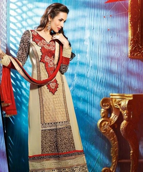 Georgette Karachi style straight fit Suit
