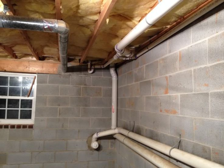 Semi Finished Basement Advice Please Exposed Insulation Pipes On Walls Basement Ceiling