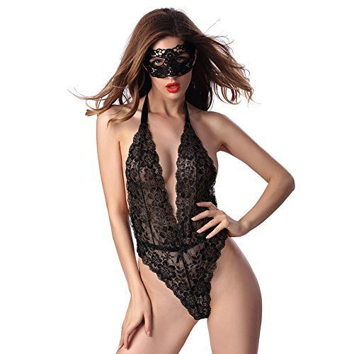 New Trending Bodysuits: Sexy Lingerie For Women Teddy One Piece Bodydoll Lace Bodysuit With Eyes Cover Deep V Halter (US 0-2, Black). Sexy Lingerie For Women Teddy One Piece Bodydoll Lace Bodysuit With Eyes Cover Deep V Halter (US 0-2, Black)  Special Offer: $9.99  322 Reviews This sexy lingerie set will make you have a wonderful night with your lover! More than it,night and night!So sexy you, so mysterious you,he...