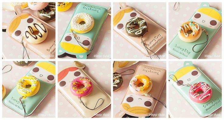 Kawaii Donut Strap Phone Decoration from Pikku Shop | www.pikku-shop.com