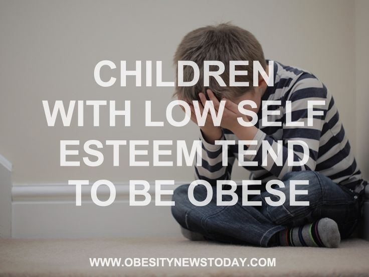 Read more on how Children with low self esteem are more like to be Obese.