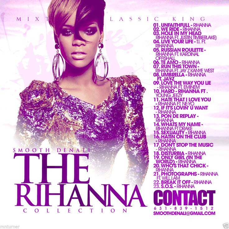 Best Of Rihanna - Collector's Mixtape Mix CD DJ Smooth Denali