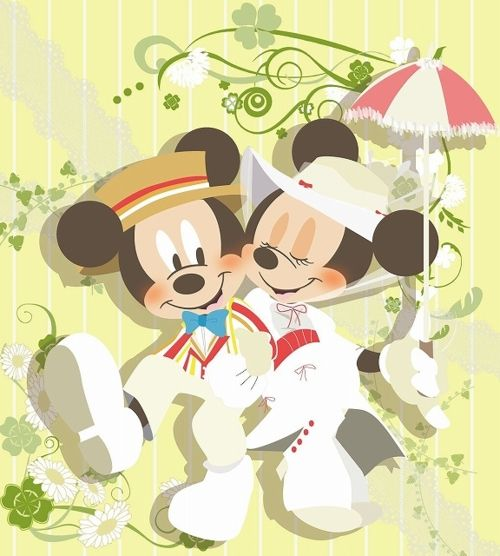 Minnie and Mickey Mouse as Mary Poppins and Bert