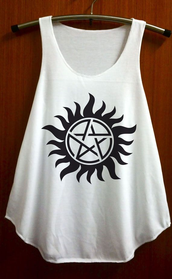 Supernatural Sam And Dean Tattoo Shirt Series Movie Tank Top T Shirt Tunic Women Size S and M