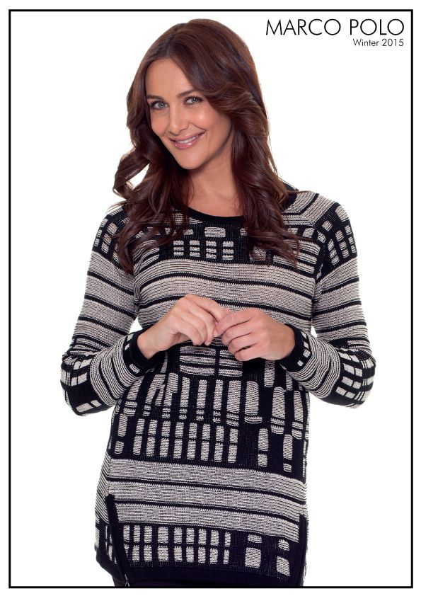Classic and relaxed, the Textured Tunic is equal parts casual and chic. A long sleeve design, the tunic length style features a boat neck and angled zipper detailing at the hem to help elongate the body. Please call 03 9902 5100 to locate your nearest stockist or shop online today at http://www.marcopolo.net.au/ (Style Number:  YTMW53020 L/S Textured Tunic)