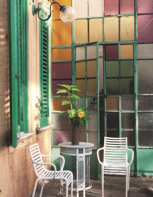 Terrasse originale où il fait bon se ressourcer