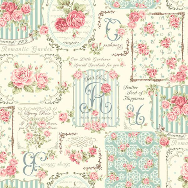 RURU Bouquet Rose For You Cotton Fabric Quilt от agardenofroses
