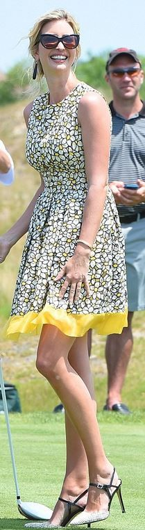 Who made Ivanka Trump's yellow floral print dress?