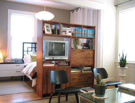 17 best images about room divider tv stands on pinterest - Room divider ideas for studio apartments ...