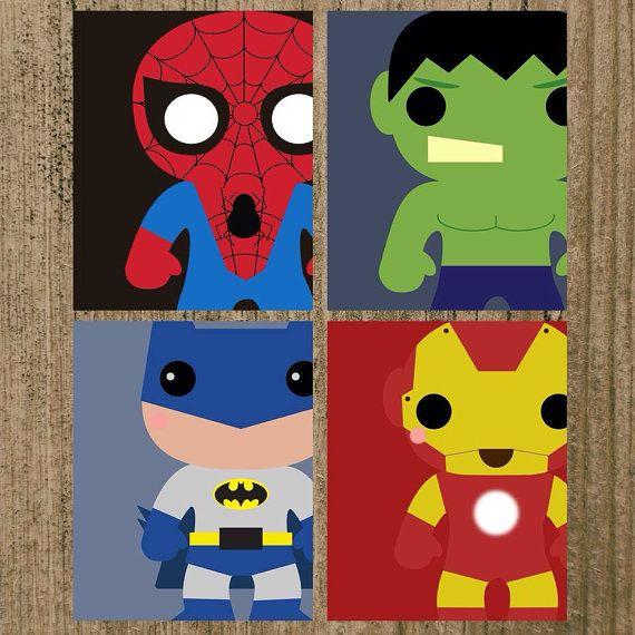 Superhero Nursery Prints Set of 4 8x10 Wall by MoreThanWords17, $35.00