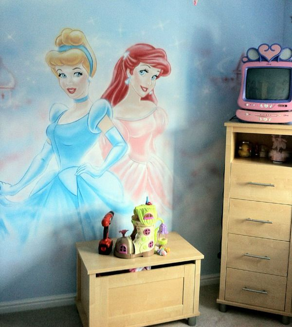 25 best ideas about princess mural on pinterest castle for Barbie princess giant wall mural
