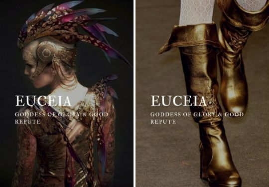 greek mythology → euceia greek goddess of glory & good repute