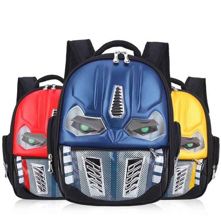 Transformers School Bag Children 4-8Years Kids Backpack Mochila Bag Waterproof Cartoon Boys Bag