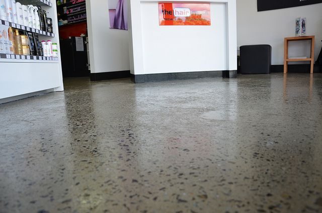 Salon Grind and Seal Polished Concrete #concrete #grindandseal