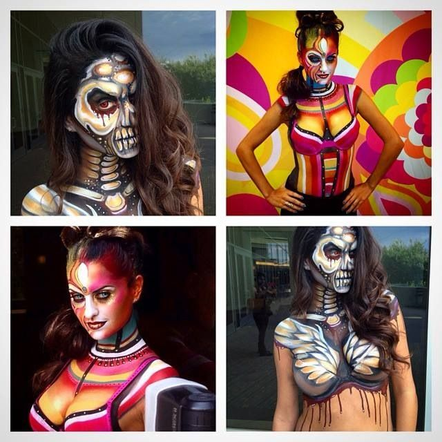 Best Body Art Images On Pinterest Body Painting Face Art And - Artist turns humans amazing animal portraits using body paint