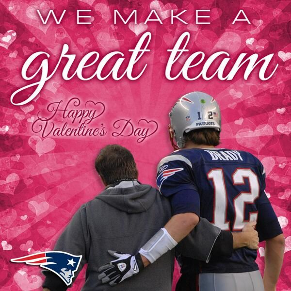 We Make A Great Team Valentinesday Http Bit Ly Patriotsvalentines Pic Twitter Com Awy8yme7n New England Patriots New England Patriots Merchandise Patriots