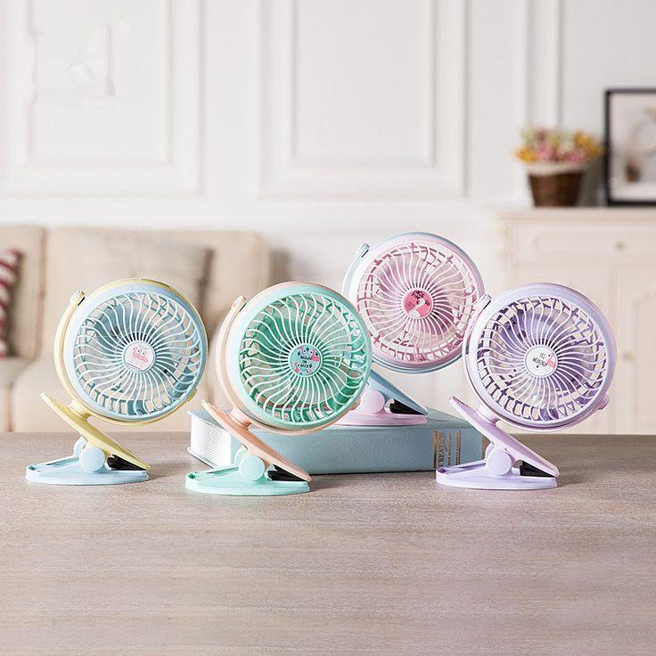 360 Degrees Rotatable Mini Clip USB Fan Portable Fruit Blower Rechargeable Smart Home Appliances