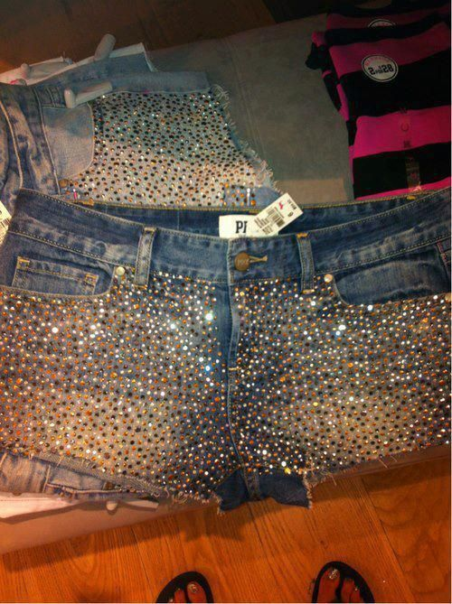 Victoria's Secret Pink bling shorts. Where the heck would you have the opportunity to wear something like this?