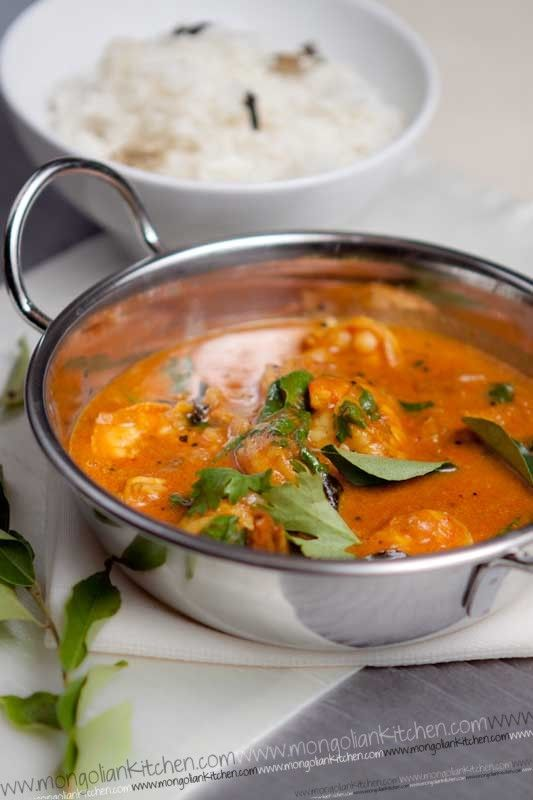 Malabar Prawn Curry Recipe - Step by Step recipe instructions for Malabar Curry | MongolianKitchen.com