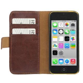 Lommebok etui til iPhone 5C - brun