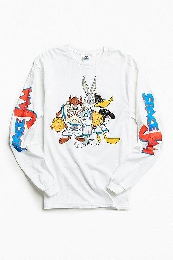 Space Jam Long Sleeve T-shirt | New In | Men | Tops | Graphic Tees | Urban Outfitters #UrbanOutfitters #UOEurope #UOonYou
