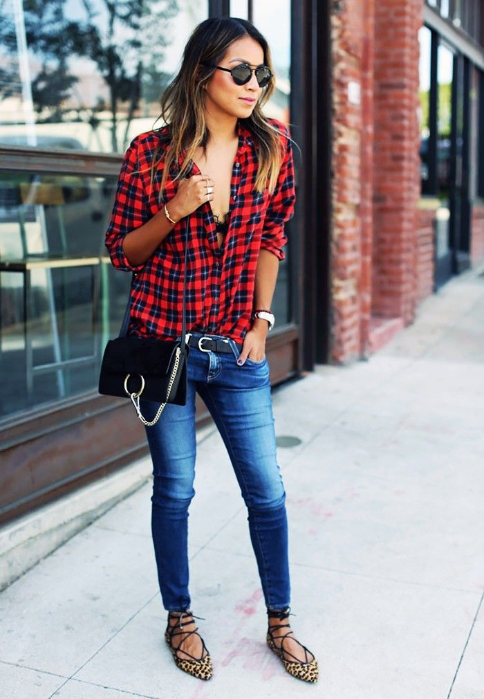 5 Cool Football Game Outfit Ideas via @WhoWhatWear