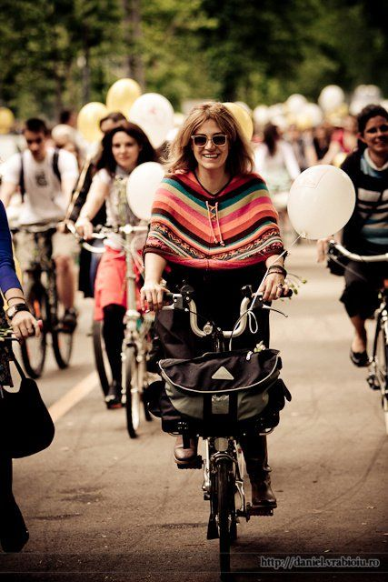 #cycling with style in Bucharest