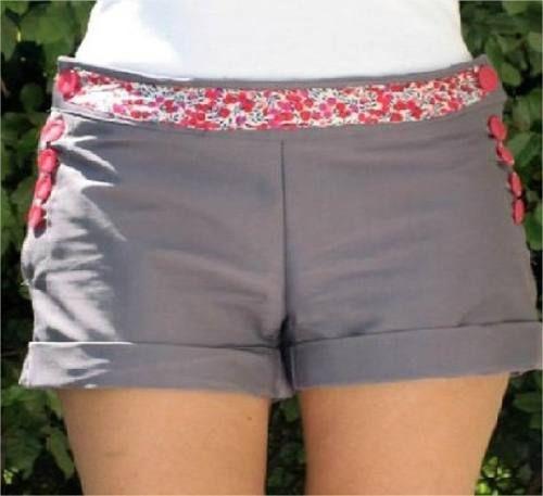 moldes y patrones imprimibles de short mujer
