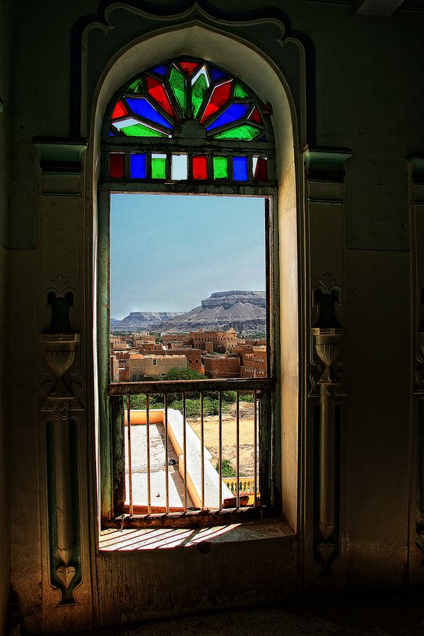 View of Tarim,in the Hadramout valley,in the East of Yemen