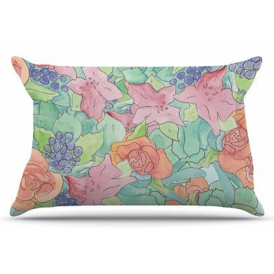 East Urban Home Southwestern Floral by Catherine Holcombe Pillow Sham Size: Standard