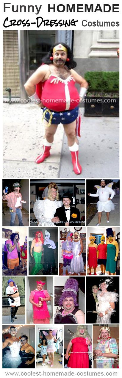 Coolest Funny Cross-Dresser Costume Ideas - Homemade Halloween Costume Contest