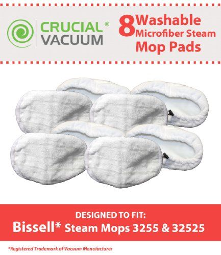 This is a High Quality Replacement 8-Pack Microfiber #Steam Mop Pad that fits #Bissell Steam Mop model 1867. Compare to Bissell Steam Mop Part # 203-2158, 2032158...