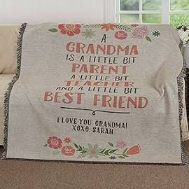 Personalized Throw Blankets For Grandma