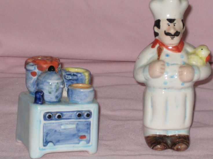 Collectible Salt & Pepper Shakers The Chef & His Kitchen OCI Omnibus