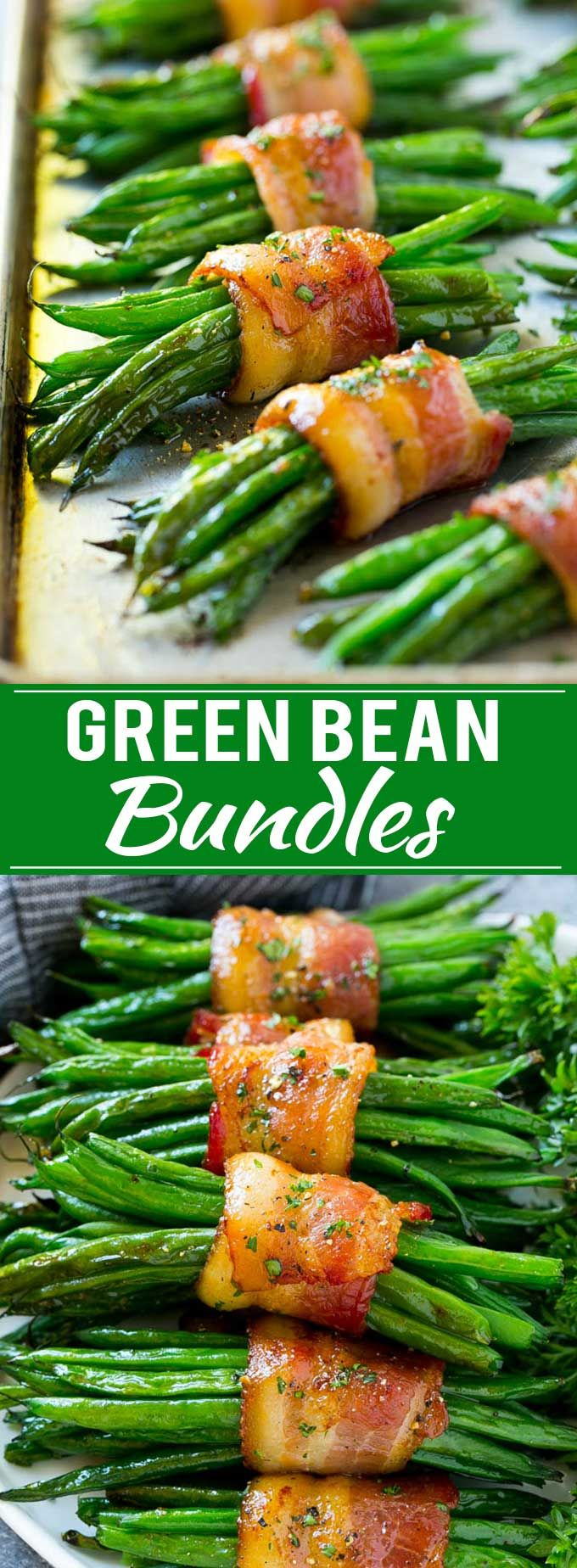 Green Bean Bundles Recipe | Bacon Wrapped Green Beans | Green Beans with Bacon | Green Beans Recipe