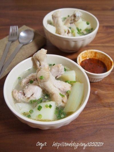 超おすすめ食べるスープ♡煮込むだけで簡単!!鶏肉ほろほろ ...