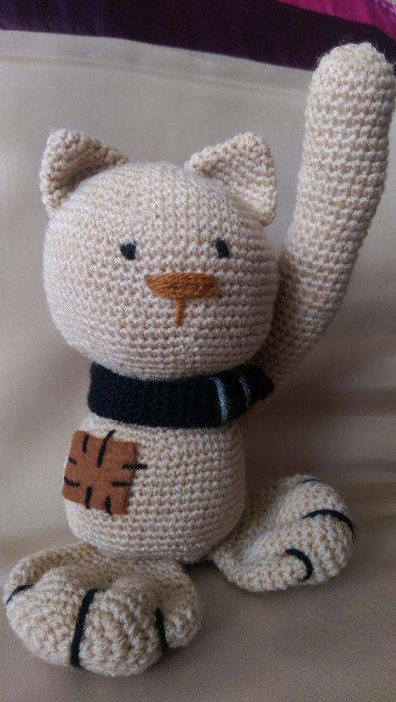 cat stuffed animals baby toy hand made  by SmallworldByAnna
