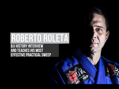 BJJ techniques: Roberto Roleta teaches his most effective practical sweep - YouTube