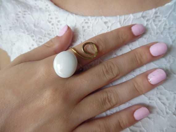 Hey, I found this really awesome Etsy listing at https://www.etsy.com/listing/243451900/gold-ring-brass-ring-forged-ring-white